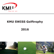KMU Swiss Golftrophy 2016 (CH) <br> Caligari Corporate Logo Programm